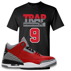 Jordan 3 Red Cement T-Shirt | Black, Trap International