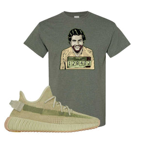 Yeezy 350 v2 Sulfur T Shirt | Heather Military Green, Escobar Illustration