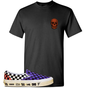 Vans Slip On Venice Beach Pack T Shirt | Black, Skull