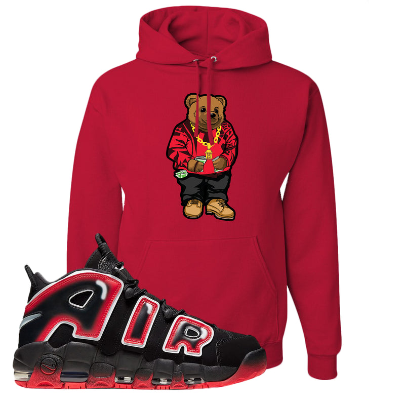 Air More Uptempo Laser Crimson Hoodie | Red, Biggie Bear