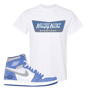 Air Jordan 1 High Hyper Royal T-Shirt | Krispy Kicks, White