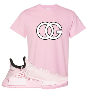 NMD Hu Tonal Pink T Shirt | OG, Light Pink