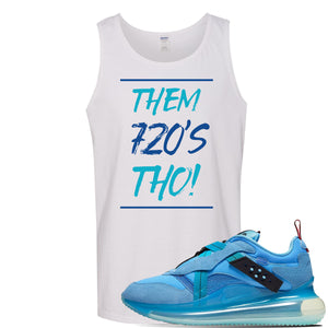 Air Max 720 OBJ Slip Light Blue Tank Top | White, Them 720'S Tho