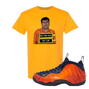 Foamposite One OKC T-Shirt | Gold, El Chapo Illustration