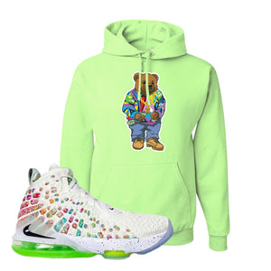 Lebron 17 Air Command Force Hoodie | Neon Green, Sweater Bear