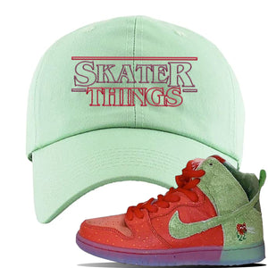 SB Dunk High 'Strawberry Cough' Dad Hat | Sage Green, Skater Things
