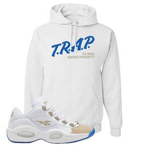 Reebok Question Low Oatmeal Hoodie | White, Trap To Rise Above Poverty
