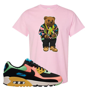 Furry Air Max 90 Bright Neon T Shirt | Sweater Bear, Light Pink