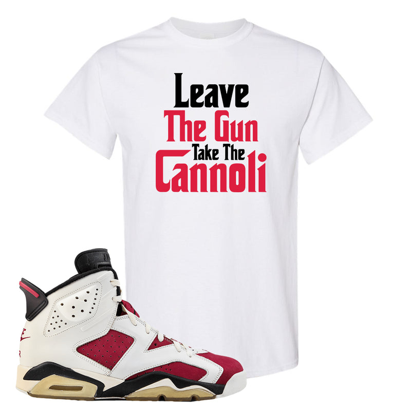 Jordan Jordan 6 Carmine Sneaker White T Shirt | Tees to match Nike Air Jordan 6 Carmine Shoes | Leave The Gun