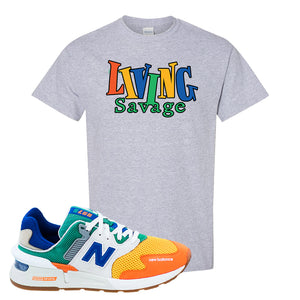 997S Multicolor Sneaker Sports Gray T Shirt | Tees to match New Balance 997S Multicolor Shoes | Living Savage