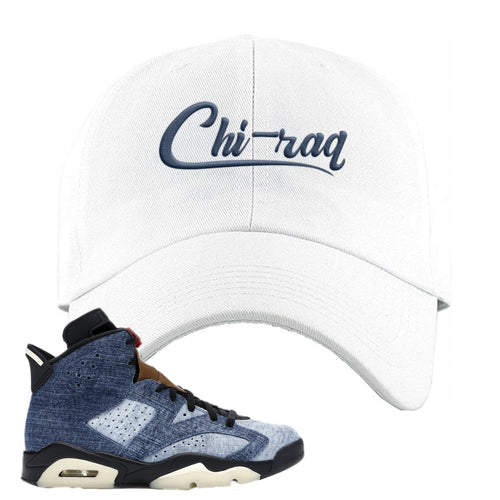 Air Jordan 6 Washed Denim Carp Pattern White Sneaker Hook Up Dad Hat