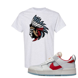 Dunk Low Disrupt Gym Red T Shirt | Indian Chief, Ash