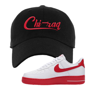 Air Force 1 Low Red Bottoms Dad Hat | Black, Chiraq
