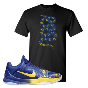Kobe 5 Protro 5 Rings T Shirt | Coiled Snake, Black