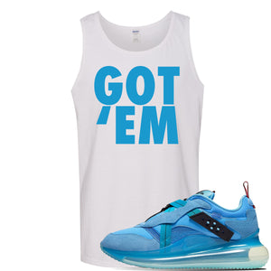 Air Max 720 OBJ Slip Light Blue Tank Top | White, Got Em