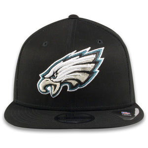 Philadelphia Eagles Current Logo Black New Era 9Fifty Snapback Hat