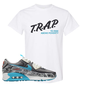 Air Max 90 Rice Ball T Shirt | Trap To Rise Above Poverty, White