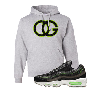 Air Max 95 Black / Electric Green Hoodie | OG, Ash