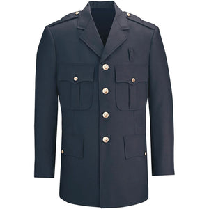 the Police | Single Breasted Men's Formal Dress Coat | LAPD Uniform Four Button Navy Blue Blazer Jacket is professional looking with gold buttons