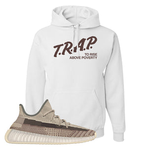 Yeezy 350 v2 Zyon Hoodie | White, Trap To Rise Above Poverty
