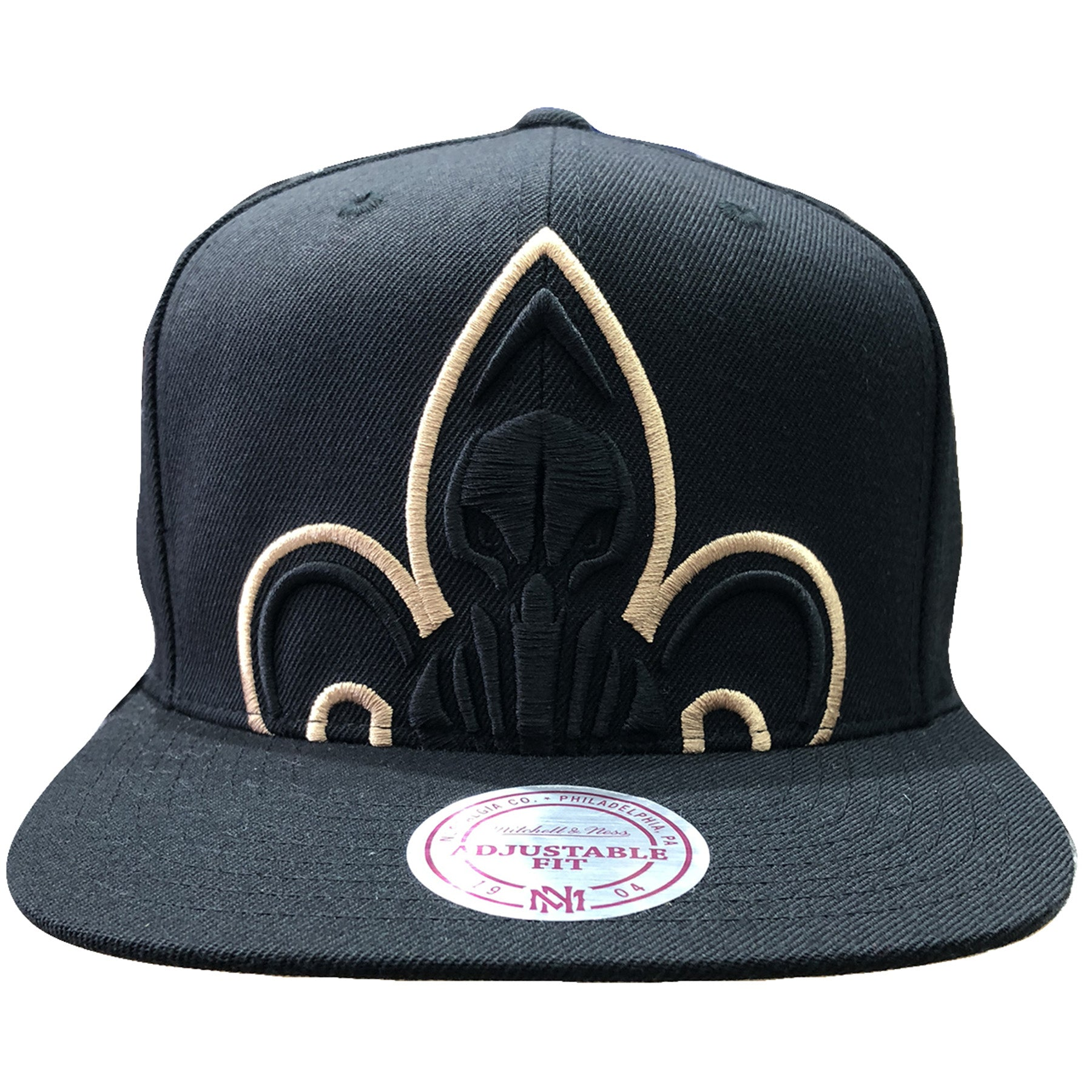New Orleans Pelicans Xl Logo Black Mitchell And Ness Snapback Hat