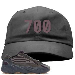 "Yeezy Boost 700 Geode Sneaker Hook Up ""700"" Gray Dad Hat"