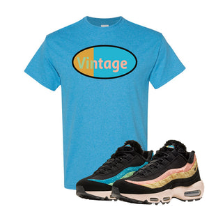 Air Max 95 Sergio Lozano T Shirt | Vintage Oval, Heather Sapphire