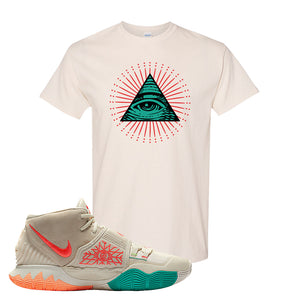 Kyrie 6 N7 T Shirt | Natural, All Seeing Eye