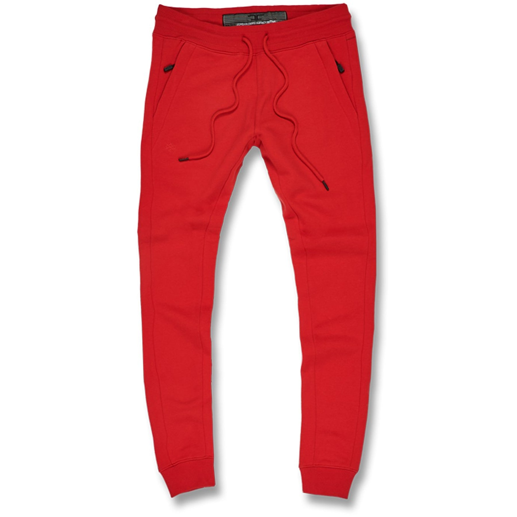 9d98d93e442073 the front of the red jordan craig fleece lined joggers feature an  adjustable string with pockets