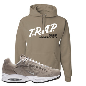 Air Max Triax 96 Grey Suede Hoodie | Trap To Rise Above Poverty, Khaki