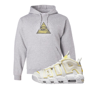 Air More Uptempo Light Citron Hoodie | All Seeing Eye, Ash