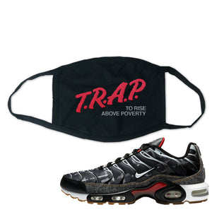 Air Max Plus Remix Pack Face Mask | Trap To Rise Above Poverty, Black