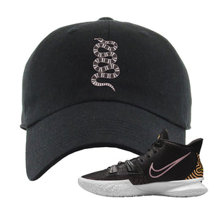 Kyrie 7 Ripple Black Dad Hat | Coiled Snake, Black