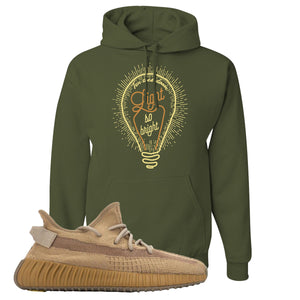 Yeezy Boost 350 V2 Earth Sneaker Hoodie To Match | Pop of Yellow, Military Green