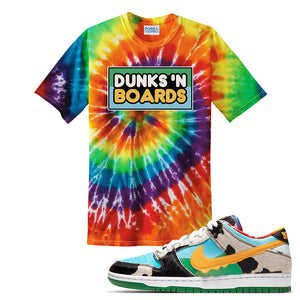 SB Dunk Low 'Chunky Dunky' T Shirt | Rainbow Tie-Dye, Dunks 'N Boards