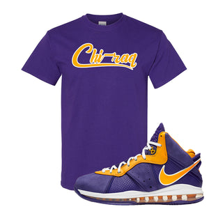 Lebron 8 Lakers T Shirt | Chiraq, Purple