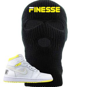 Jordan 1 First Class Flight Finesse Sneaker Matching Black Ski Mask