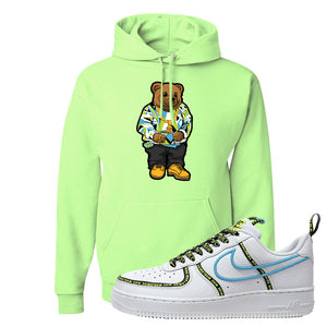 Air Force 1 '07 PRM 'Worldwide Pack' Hoodie | Neon Green, Sweater Bear