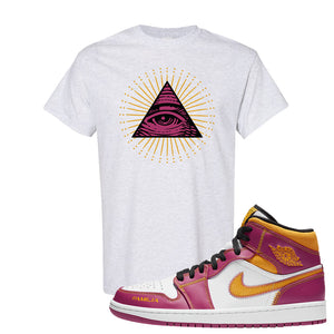 Air Jordan 1 Mid Familia T Shirt | All Seeing Eye, Ash