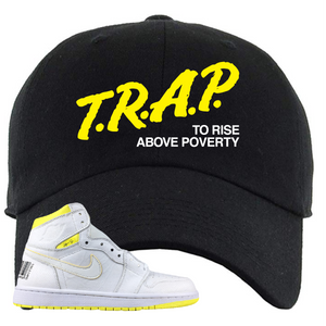 Jordan 1 First Class Flight Trap To Rise Sneaker Matching Black Dad Hat