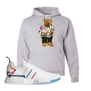 NMD R1 Olympic Pack Hoodie | Ash, Sweater Bear