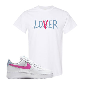 Air Force 1 Low Fire Pink T Shirt | White, Lover