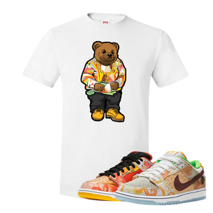 SB Dunk Low Street Hawker T Shirt | Sweater Bear, White