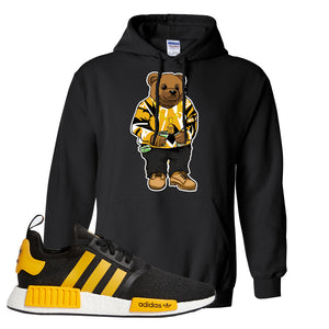 NMD R1 Active Gold Hoodie | Black, Sweater Bear