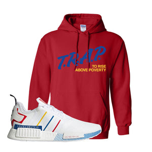 NMD R1 Olympic Pack Hoodie | Red, Trap To Rise Above Poverty
