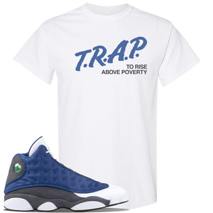 Jordan 13 Flint 2020 Sneaker White T Shirt | Tees to match Nike Air Jordan 13 Flint 2020 Shoes | Trap To Rise