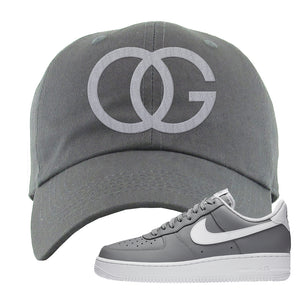 Air Force 1 Low Wolf Grey White Dad Hat | Dark Gray, OG
