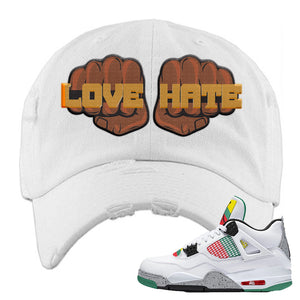 Jordan 4 WMNS Carnival Sneaker White Ski Mask | Winter Mask to match Do The Right Thing 4s | Love Winter Maske Fist