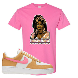 Nike Air Force 1 Pink Orange T-Shirt | Oh My Goodness, Azalea