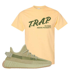 Yeezy 350 v2 Sulfur T Shirt | Yellow Haze, Trap To Rise Above Poverty